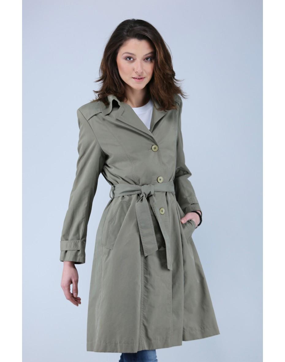 Дамски класически еднореден шлифер